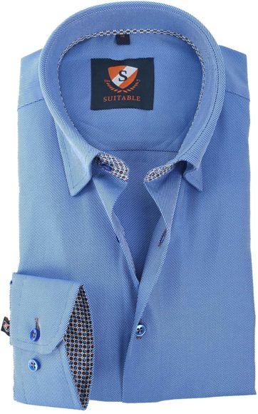 Suitable Hemd Blauw 147-2
