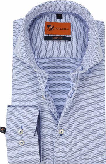 Suitable Hemd Blauw 199-3