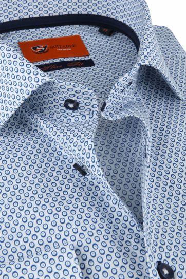 Suitable Hemd Blauw Ogen Slim Fit