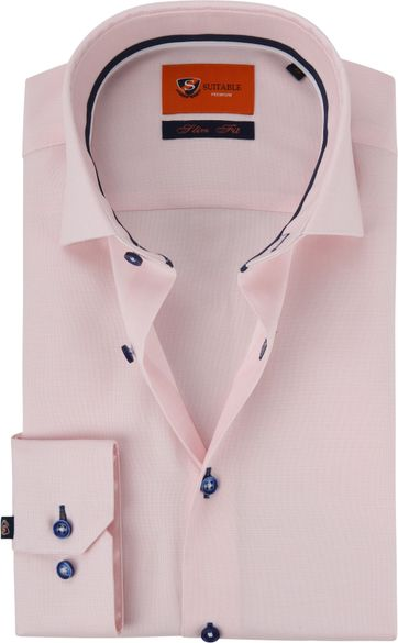 Suitable Hemd Dobby WS Pink