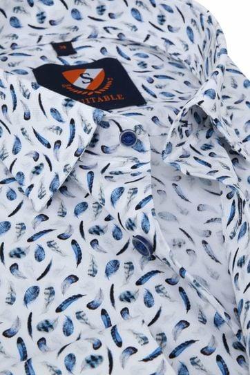 Suitable Hemd Federn Blau
