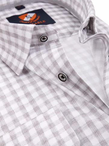 Suitable Hemd Grey Check