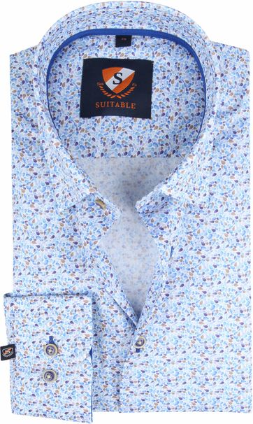 Suitable Hemd HBD Druppels Blauw