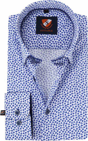 Suitable Hemd HBD Leaf Royal Blau