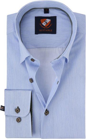Suitable Hemd HBD Print Blauw