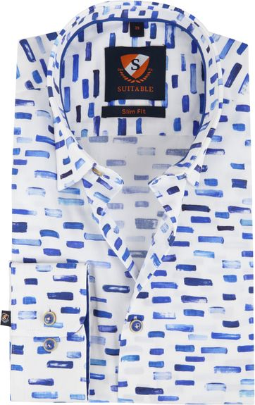 Suitable Hemd HBD Streep Blauw