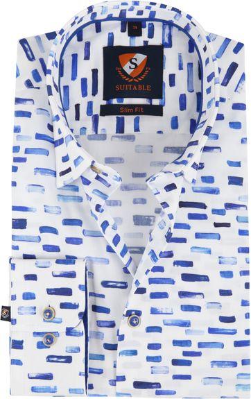 Suitable Hemd HBD Streifen Blau