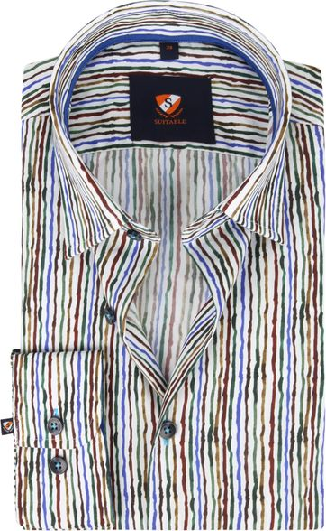 Suitable Hemd Inked Stripes Multicolour