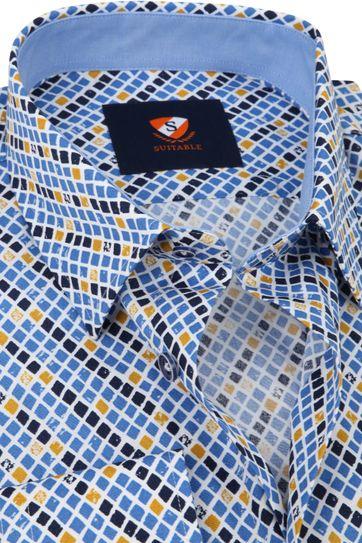 Suitable Hemd Kariertes Blau Gelb