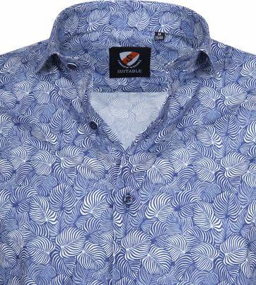 Suitable Hemd Leaves Blau
