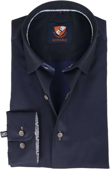 Suitable Hemd Navy Twill