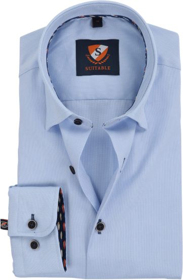 Suitable Hemd Oxford Blau SF