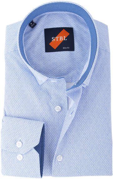 Suitable Hemd S2-1 Weiss Blau Drucken