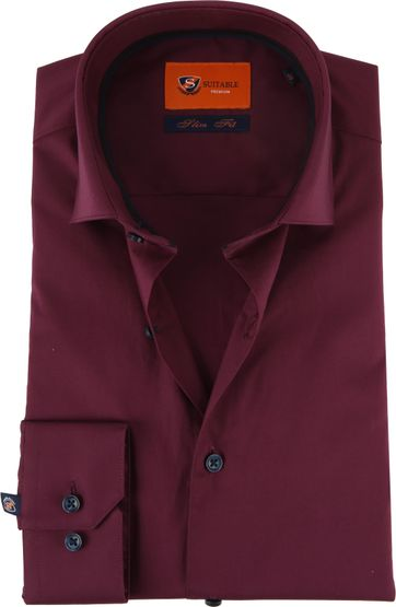Suitable Hemd SF Bordeaux