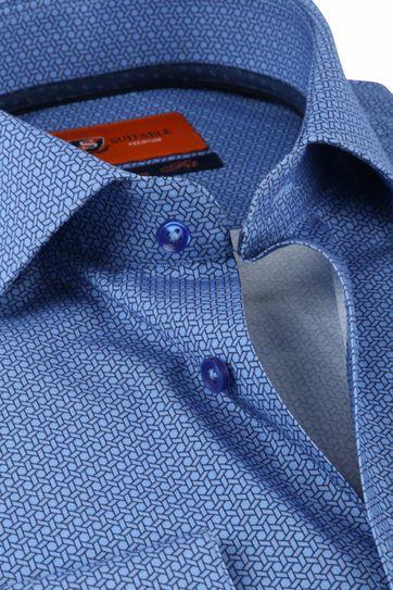 Suitable Hemd SF Geometric Blau