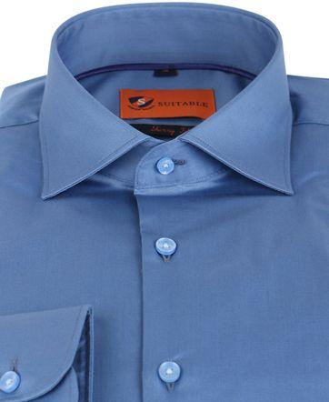 Suitable Hemd Skinny Fit Blau