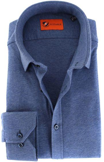 Suitable Hemd Strecken Blau
