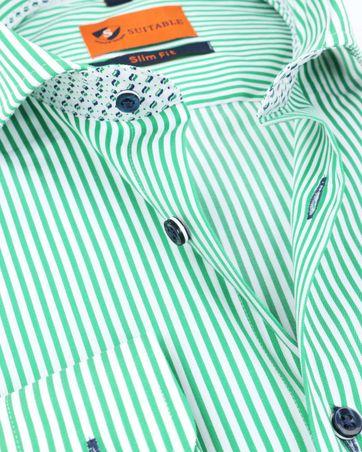Suitable Hemd Streifen Grün 174-6