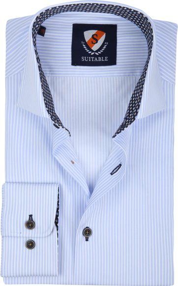 Suitable Hemd TF Streifen Blau