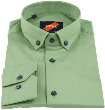 Detail Suitable Hemd Uni Grün