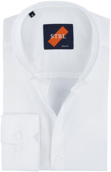 Suitable Hemd Uni Weiss