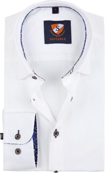 Suitable Hemd Weiß 188-1