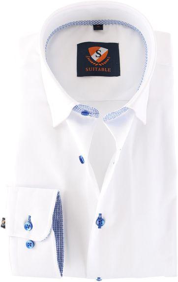 Suitable Hemd Weiß 157-1