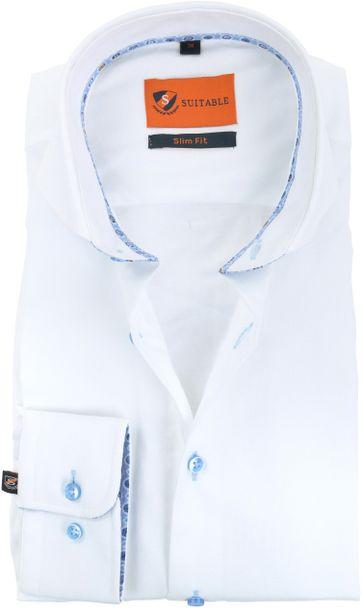 Suitable Hemd Weiß CAW 174-1