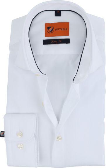 Suitable Hemd Weiß Skinny Fit