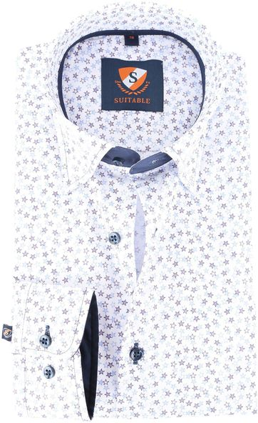 Suitable Hemd White Stars 143-6