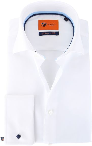 Suitable Hemd White Twill Doppel Cuff