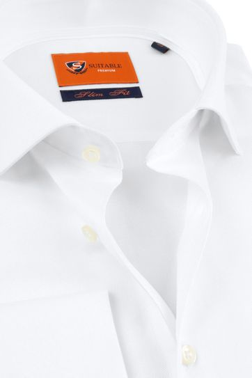 Suitable Hemd White Twill Doppel Cuff