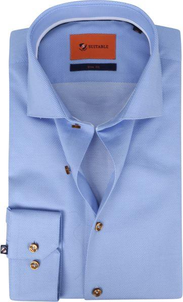 Suitable Hemd WS Stippen Blauw