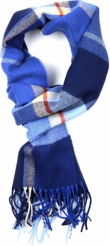 Suitable Heren Sjaal Blauw Ruit 18-04