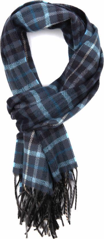 Suitable Heren Sjaal Blauw Ruit 18-16