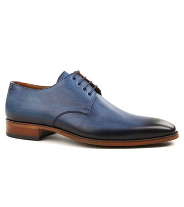 Suitable Herrenschuhe Leder Blau