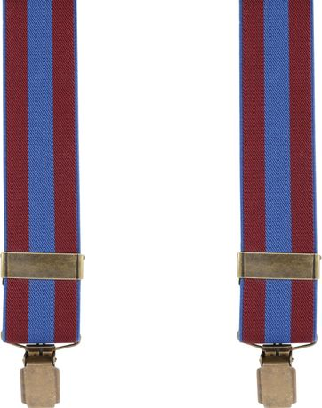 Suitable Hosenträger Navy Rot