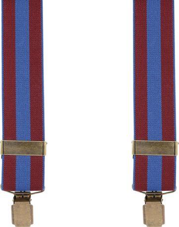 Suitable Hosenträger Navy Rot