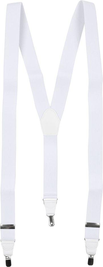 Suitable Hosenträger Weiß Uni