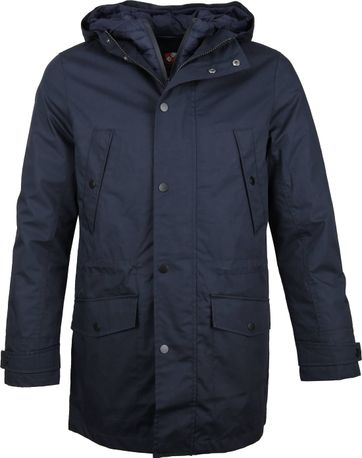 Suitable Jacket Waxed-look Dark Blue