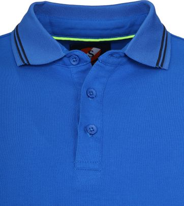 Suitable Jason Polo Stretch Blauw
