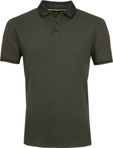 Suitable Jason Polo Stretch Olijfgroen