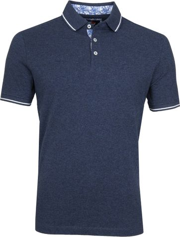 Suitable Jaspe Yarn Polo Navy
