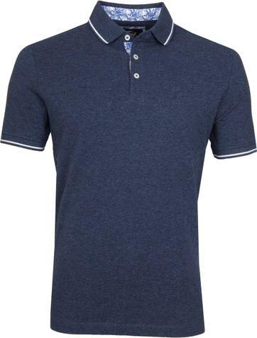 Suitable Jaspe Yarn Poloshirt Navy