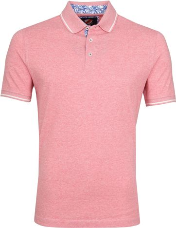 Suitable Jaspe Yarn Poloshirt Pink