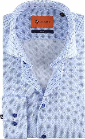 Suitable Jersey Hemd Print Blau