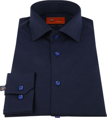 Suitable Jersey Pique Shirt Navy