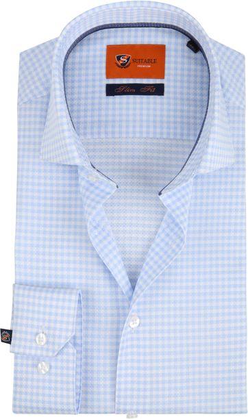 Suitable Karo Blau Hemd