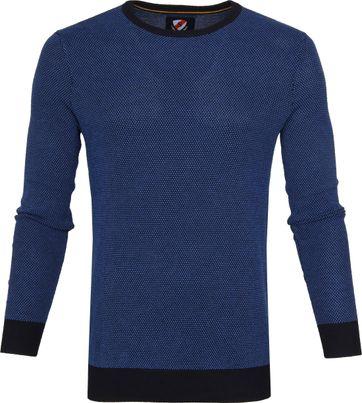 Suitable Katoen Bince Pullover Blauw