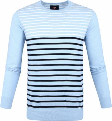 Suitable Katoen IAN Pullover Blauw
